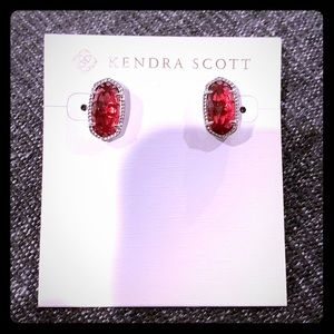 KENDRA SCOTT ELLIE BERRY STUD SILVER EARRINGS *NEW